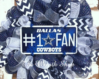 Dallas Cowboys Mesh Wreath - Cowboys Wreath