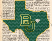 Texas Collage Prints - ATM, Baylor, UH, UT
