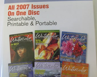 The Watercolor Magic  Magazine 2007  Back Issues CD 6 issues Annual disc new