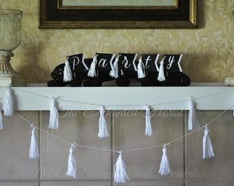 Tassel Garland, Tassel Banner, Yarn Tassel garland, Party Decoration, Party, Weddings, girls birthday, bunting, hanging decorations