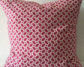 Decorative Set of 2 Pillow Covers 18x18inch - Free Shipping - P Kaufman Home Decor Fabric Raspberry Red Pink