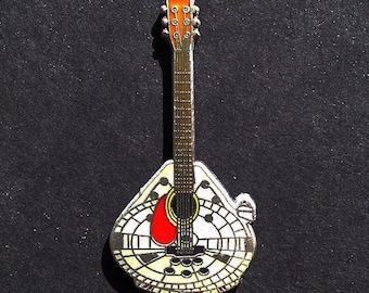 Star Wars pin, millennium falcon, guitar pin, hat pin