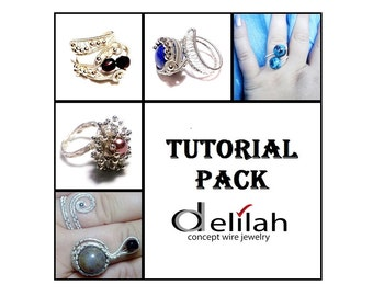 30 % OFF Rings Tutorial Pack 6 Wire Wrap Ring Tutorials Wirework Tutorials Adjustable Rings Tutorials Wire Wrap Tutorials Jewelry Tutorials
