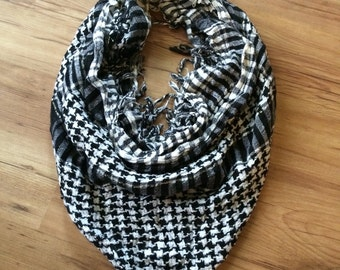 Plaid scarf lot / 2 large square scarves