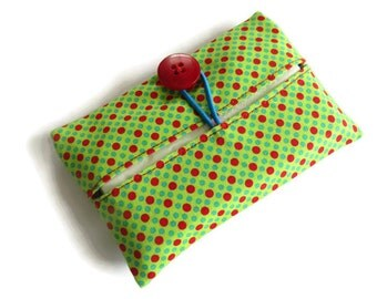Cotton Fabric Cover for Paper Tissues -Kleenex Cover Case - Paper Hankerchief Holder
