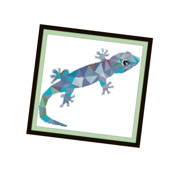 Gecko Cross Stitch Pattern - Lizard Modern Cross Stitch ...