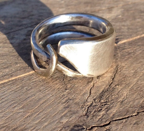 items similar to silver fork ring fork jewelry fork ring