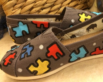 Autism Awareness Made to Order Custom canvas shoes