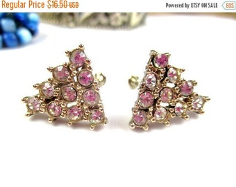 CHRISTMAS Holiday Sale, Art Deco Geometric Rhinestone Earrings 1920s, Fashion, Vintage Jewelry, Gift for Her
