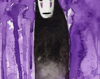 ORIGINAL No Face watercolor painting