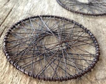 2pc, Wire Pendant, Antique Copper Pendant, Dreamcatcher Pendant, DIY Dreamcatcher Jewelry, Jewelry Making, Craft Supplies, Jewelry Supplies