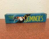 Vintage Dominoes, Greyhound Brand, Vintage Plastic Dominoes, 55 pieces