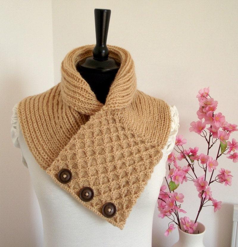 Knitting Cowl Pattern Honey Waffle Cowl Scarf Pattern Pdf