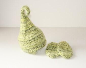 kids hat pixie hat and mitten set in size newborn to adult sizes