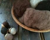 Needle Felting Wool - Chocolate Factory Wool Sampler-Wet Felting Wool