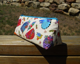 Pencil Case, Crazy Cats on Cream, Cat Bag, Cat Craft Supplies Pouch, One of a Kind