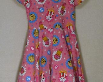 Shopkins Dress for Girls Twirly Skirt with Rhinestones