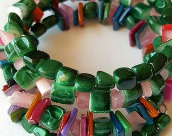 Jade Nugget Wrap Bracelet