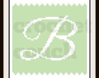 C2C Graph, Letter B, Baby Blanket, C2C Graph, & Written Word Chart