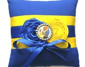 Beauty and the Beast Wedding Ring Pillow- (6x6 inch pillow)