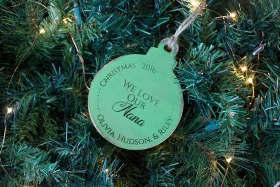 Grandma Ornament Gift, From Grandkids, Grandchildren, Love our nana ornament, Christmas Ornament, Grandparent Gift, Custom, Personalized