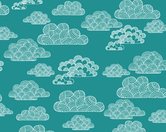 Nimbus in Turquoise - First Light (Canvas) - Eloise Renouf - Organic Cotton - Cloud 9 Fabrics