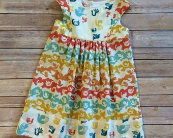 Playgroup Dress - Birch Organic Fabric - Back to School