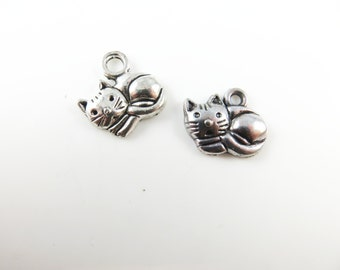 12 Cat charms