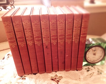 "10 Red Books, Small,  ""Little Masterpieces of Science and Literature"" 1902-1903"
