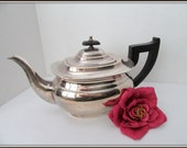 Sheffield Silver Art Deco Cutlers Viners England Bakelite Handle Teapot