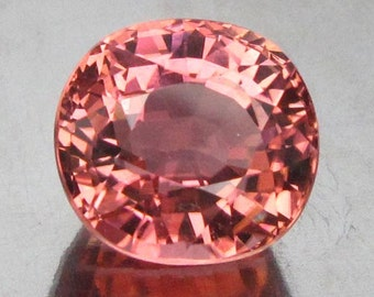 5.78 Ct Natural Tourmaline Peach Pink Africa Unheated VVs