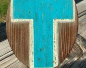 Rustic Painted Cross Cookie Jar lid