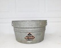Galvanized Tub Wash Tub Belknap Bucket Metal Handle Galvanized Metal Mop Bucket
