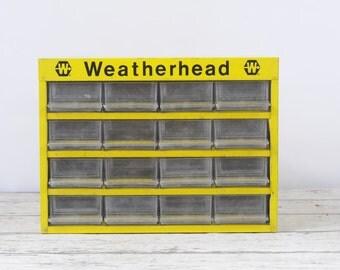 Vintage Weatherhead 16 Drawer Tool Box Weatherhead Parts Box Parts Drawers