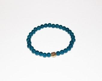 Zen Mini Turquoise Glass Bracelet