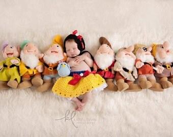 Newborn Snow White Inspired Outfit - Photo Prop - Newborn Girl