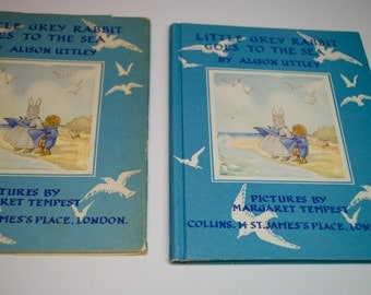 Little Grey Rabbit Goes to the Sea, Vintage book from London 1971