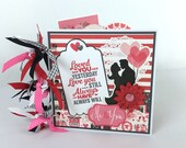 Valentine Mini Album Kit or Premade Scrapbook Album Love Sweetheart Hearts