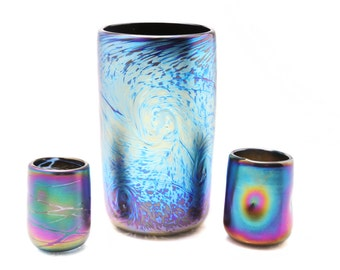 Fumed Glass Cup and Shot glasses