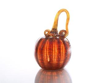 Golden Brown Glass Pumpkin