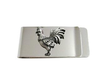 Textured Rooster Chicken Money Clip