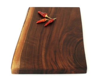 "Wood Cheese Board - Black Walnut - Ready to Ship - 14""x10""x1"""