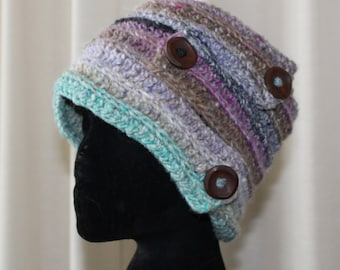 Crocheted headband and neckwarmer