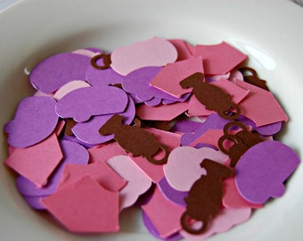 Glamping Theme Birthday Party Confetti (100 pieces), Glam Camping, Girl Camping