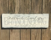 Personalized family sign. Family name sign. Family established sign. Established sign.