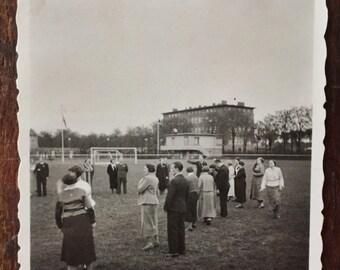 Original Vintage Photograph Field Gathering