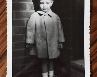 Original Vintage Photograph The Boy in the Shadows 1949