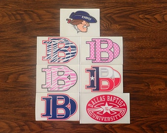 5 Pack Dallas Baptist Decal Mystery Bundle