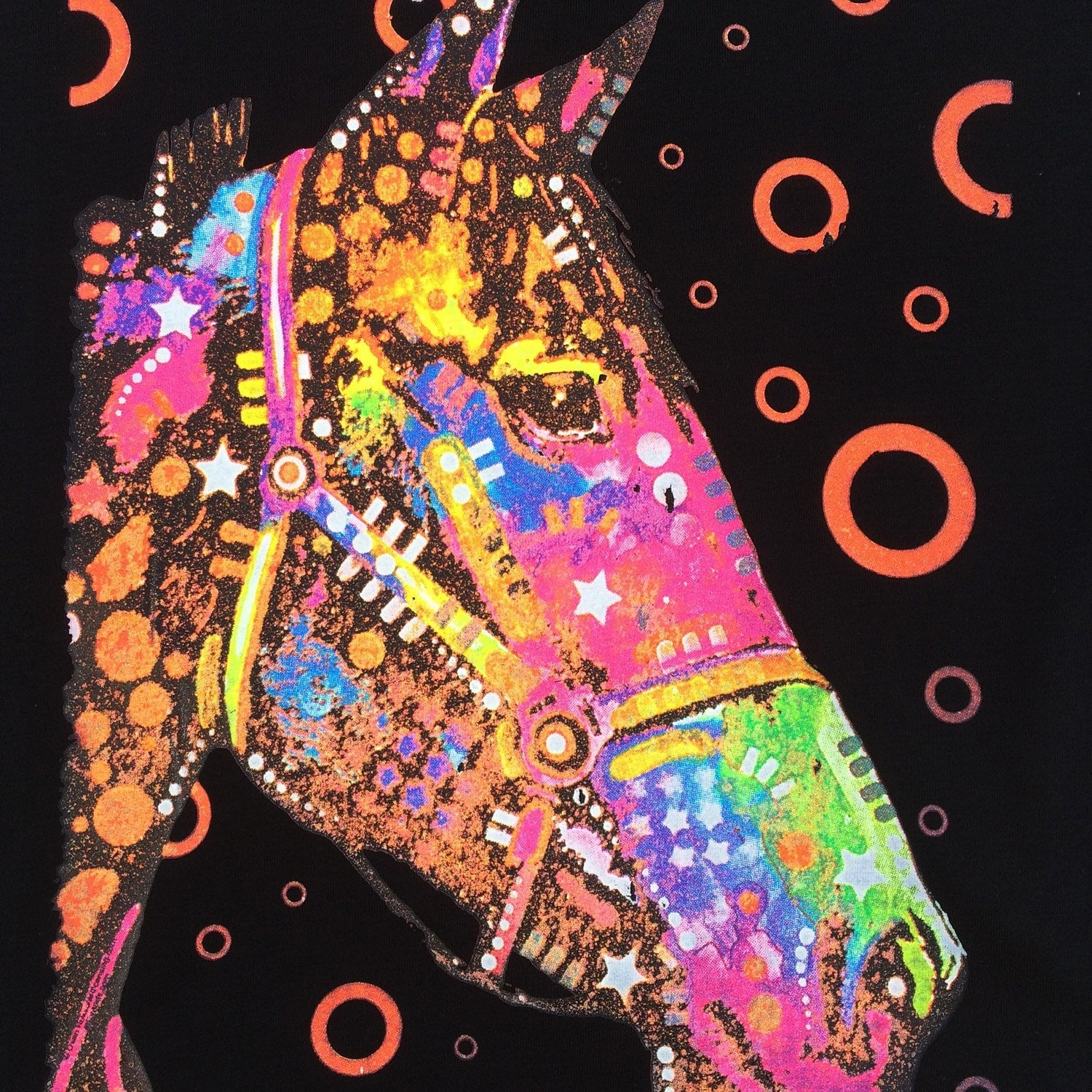 Neon Horse T-Shirt Screen Print Equestrian by PinkPosieCouture