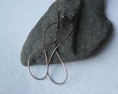 Copper Hoop Earrings/ FREE Shipping*/ Unique Earrings/ Minimalist Earrings/Copper Earrings/ Burnished Bronze Copper Large Hoop Earrings